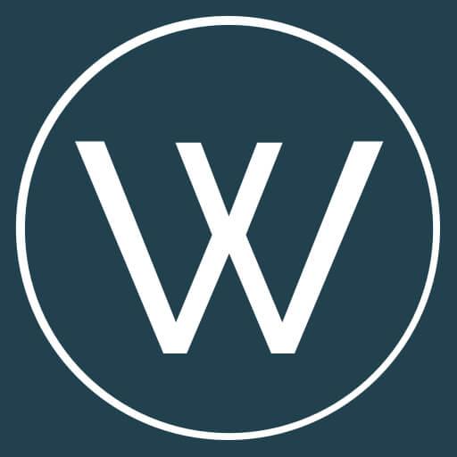 "WestWay Christian Church Logo - Blue circle with white 'W"""